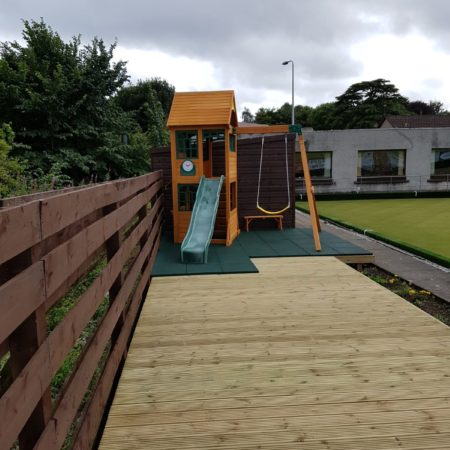 Wooden Decking / Play Area